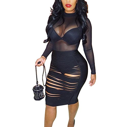 VANCOL Women's Hollow Out Lace up Sexy Mini Bandage Bodycon Party Night...