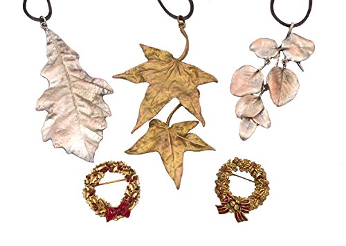 Holiday (Set of 5) Ornaments and Pins By Michael Michaud for Silver Seasons… by Michael Michaud