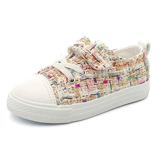 Eu 5uk Enfant Blanc Respirant Casual gymnastique taille 10 Couleur Casual 28 Blanc unisexe chaussures enfants Mode étudiant faible toile Zhrui 1qwUBU