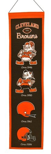 Cleveland Wall Browns - NFL Cleveland Browns Heritage Banner