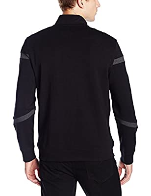 Calvin Klein Men's Slim Fit Full Zip Color Block Pattern Sweatshirt