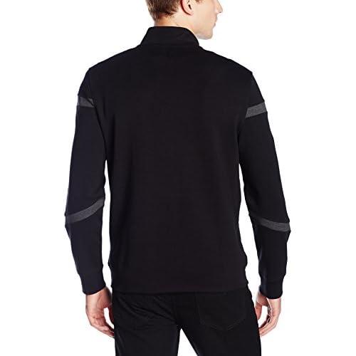 Calvin Klein Men's Slim Fit Full Zip Color Block Pattern Sweatshirt on sale