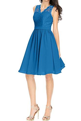 Spitze Linie Ivydressing Ballkleider Spitze Damen Promkleid Abendkleider Partykleid Blau A Kurz xAaTBwq