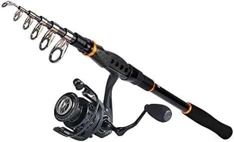 KastKing Combo Spinning Reel - Spinning Travel Fishing Rod Combo 10+1 BB Fishing Reel – Carbon Fiber Drag Spare Graphite Spool