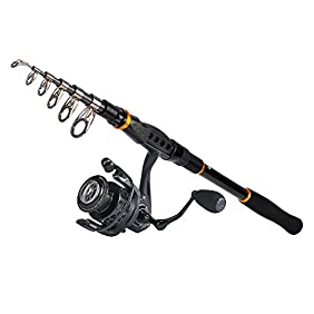 KastKing Combo Spinning Reel - Spinning Travel Fishing Rod Combo 10+1 BB Fishing Reel - Carbon Fiber Drag Spare Graphite Spool