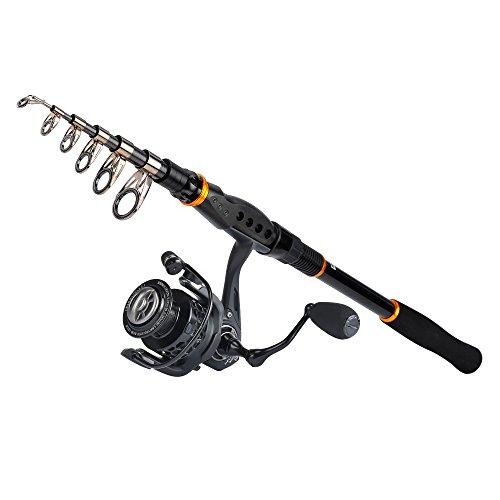 KastKing Combo Spinning Reel - Spinning Travel Fishing Rod Combo 10+1 BB Fishing Reel - Carbon Fiber Drag Spare Graphite Spool (Pen Telescope Fishing Pole Combo)
