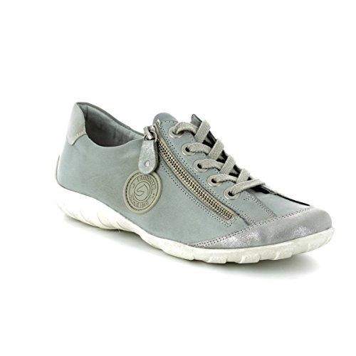 Zapatos silber Cordones Gris whitelightblu 11 R3443 Remonte Mujeres Dorado Con 7Xw55t