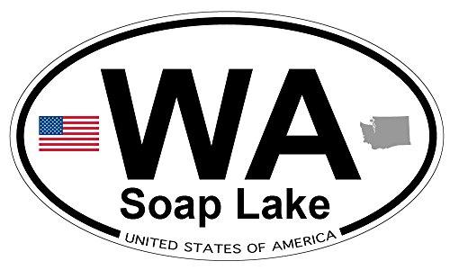 Soap Lake, Washington Oval Magnet