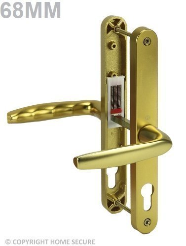 uPVC Door Handles - Lever Lever - D53 - Gold by Secure Home