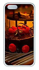 iPhone 5 5S Case Delicious Chocolate Strawberry Cake TPU Custom iPhone 5 5S Case Cover White