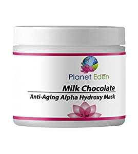 Planet Eden Organic Milk Chocolate and 15% Lactic Acid Facial Mask with Organic Botanicals to Hydrate, Detox and Exfoliate - Professional Spa Quality