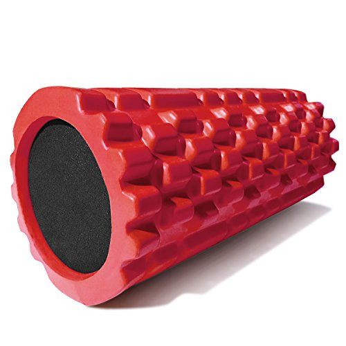 Deep Tissue Massage Roller For Myofascial Release, Physical Therapy, and Scar Tissue, Red