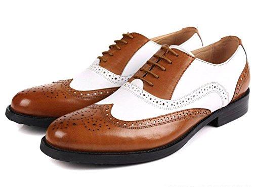 Bats Hommes Couleur Entreprise 45 Noir Cuir Lacer 38 Chaussures toi Formel Mariage Bœuf Travail marron Noir Taille Oxfords Fête Bureau pq8Fwpr