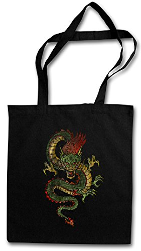 CHINESE DRAGON HIPSTER BAG �?dragón Fantasy Tattoo Monster Japanese Asia Medieval Larp Monster Dungeons Knight Oldschhool Flash