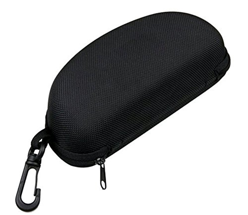 Hosaire Sunglasses Eyeglasses Case with Zipper Carabiner Hook Clip Hard Case Box Holder for Outdoor Traveling - Clip Glass Art Sun