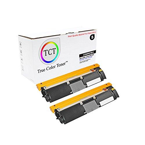 TCT Premium Compatible Toner Cartridge Replacement for QMS 2300 1710517-005 Black Works with Konica Minolta Magicolor 2300DL 2300W 2350EN Printers (4,500 Pages) - 2 Pack ()