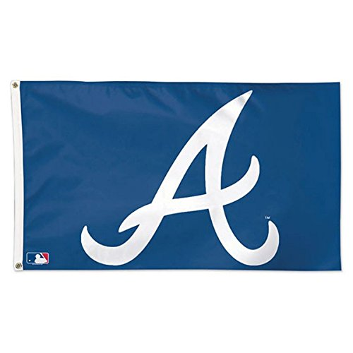 MLB Atlanta Braves 01758115 Deluxe Flag, 3' x 5'