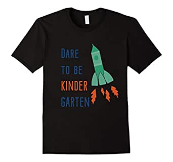 Mens Dare to be KINDER kindergarten back to school shirt for boys 2XL Black