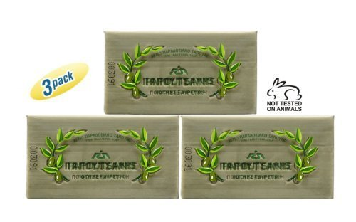 - Papoutsanis Pure Olive Oil Bar Soap 3 Pack 3x125g (3x4.4oz)