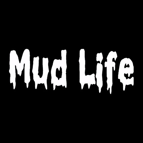 Mud Life 4x4 Decal White Choose Size