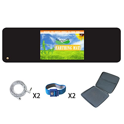 LandKissing Soft Mat for Earthing Classic Black with Two ...