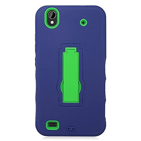 Eagle Cell Hybrid Armor Protective Case with Stand for ZTE Quartz Z797C - Retail Packaging - ZZ0 (Zte Quartz Case Green)
