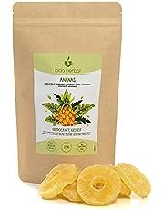 Torkad ananas, torkad ananas, ananasbitar, mellanmål med torkad frukt