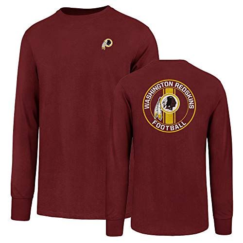 NFL Washington Redskins Men's Ots Rival Long sleeve Lccb Distressed Tee, Small, Crimson
