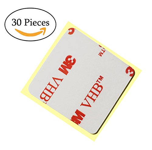 Very High Bond Double Sided Adhesive Mounting Pad,Square Conformable Glue Replacement Very Thin Foam Mounting Pad 1.1 inch Square Pad Remove with No Residue 30 Pieces (Removable Foam Mounting Squares)