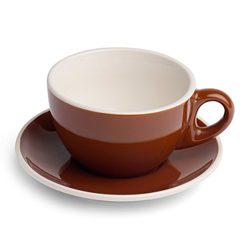 Revolution Cup & Saucer, Brown, 10-Ounce