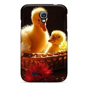 [VuCJZaC1096CLcSG]premium Phone Case For Galaxy S4/ Ducks Duckling Baskets Baby Birds Birds Tpu Case Cover