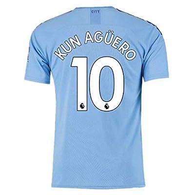 #10 KUN Aguero Manchester City Home Soccer Jersey 2019-2020 Season Mens Blue