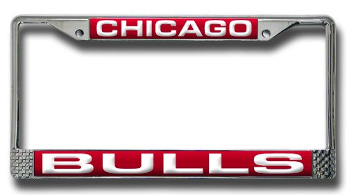 - Rico Industries NBA Chicago Bulls Laser Cut Inlaid Standard Chrome License Plate Frame