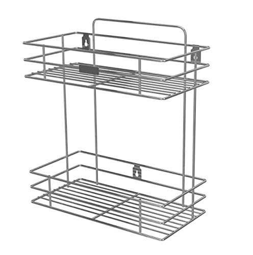 Umax Stainless Steel Wall Mountable 2 Tier Shelves and Racks