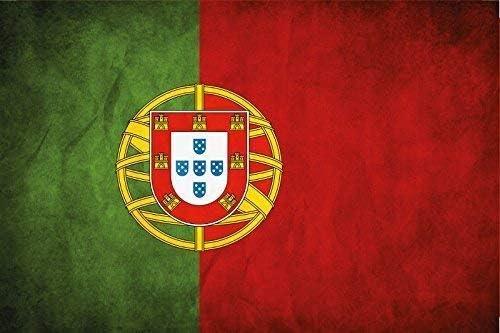 Portugal Bandera Bandera Placa de Metal Cartel de Lata 20 X 30CM: Amazon.es: Hogar