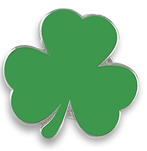 Forge Irish Green Shamrock Enamel Lapel Pin Saint Patrick's Day (Wholesale) (100 Pins)