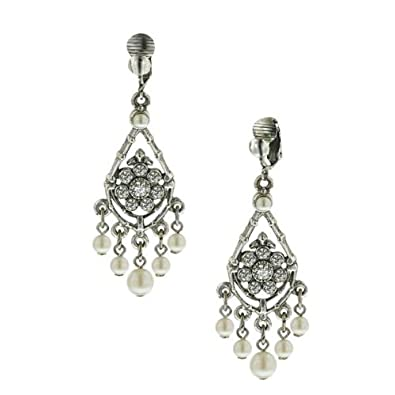 Amazon 1928 jewelry bridal crystal chandelier clip earrings 1928 jewelry bridal crystal chandelier clip earrings aloadofball Image collections