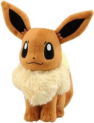 """Takaratomy Pokemon N-42 Eevee/Eievui Best Wishes 7"""" Plush Doll"""