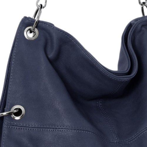femme bleu CASPAR l'épaule multifonction à porté Sac coloris à plusieurs bandoulière pour TS561 main foncé cYHTqwZY