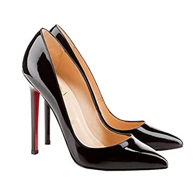 buy popular 2396d ad88f Red Bottom High-Heeled Pumps Smart Office Work Court Leather Shoes