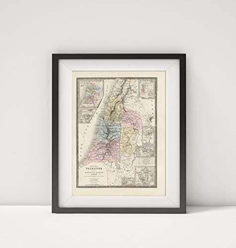 Mapa-Carto, LLC 1875 Map of Israel Palestine Sous la Domination Romaine Title: Carte de la Palestine Sous la Dominat