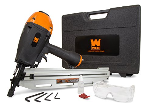 WEN 61793 21° Pneumatic Framing Nailer with Carrying Case
