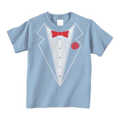 Threadrock Little Boys' Tuxedo Infant T-Shirt 18M Light (Baby Blue Tux)