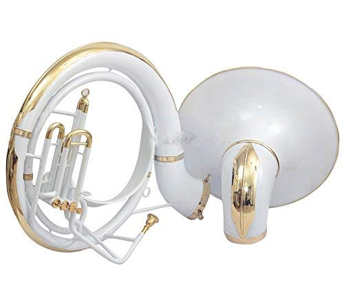 SAI MUSICAL sousaphone for sale KING SIZE TUBA 24'' FOR SALE Bb PITCH WHITE COLORED WITH BAG