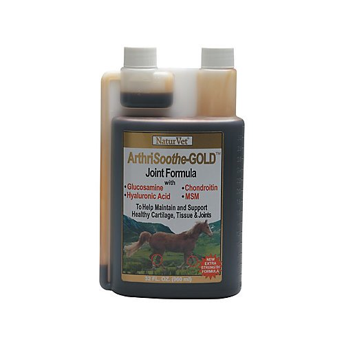 NaturVet ArthriSoothe-GOLD Advanced Joint Formula for Horses, 1 Gallon Liquid, Made in USA by NaturVet