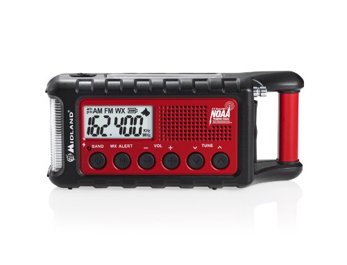 Crank Flashlight Radio Hand (Midland Consumer Radio ER310 Emergency Solar Hand Crank AM/FM Digital Weather Radio)