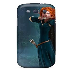 Galaxy S3 Hard Back With Bumper Silicone Gel Tpu Case Cover Princess Merida In Brave