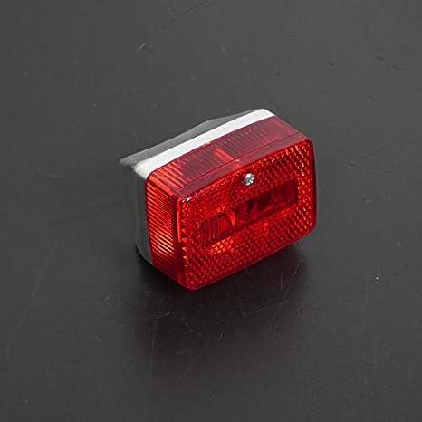 Feu arri/ère MBK 51 pour 50 cc de NC a 204 etat Neuf Feu arri/ère support look carbone avec cabochon rouge