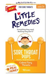 Little Remedies for Sore throat pops, made of Honey Lollipop- 10 Pops (Pack of 2) (Baby Lollipops)
