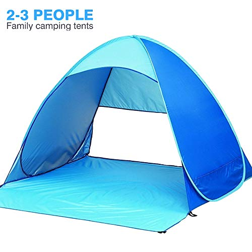 MICROFIRE Beach Tent Sun Shelter Easy Pop Up Tent for Beach 2-3 Person with UV Protection